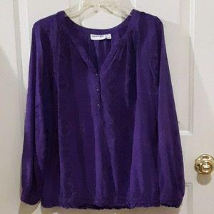 Purple pullover blouse
